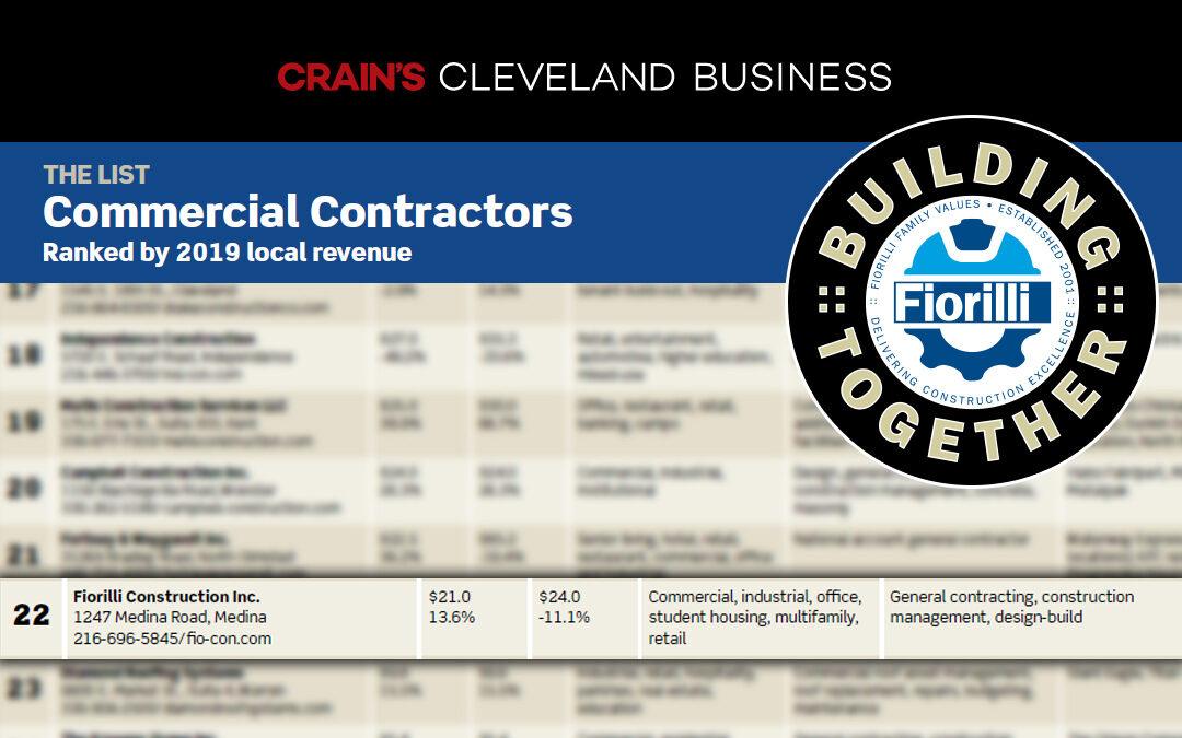 Fiorilli Construction – Crain's Top Contractors List